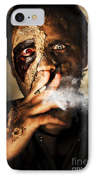 Zombie Killing Some Time IPhone Case by Jorgo Photography - Wall Art Gallery