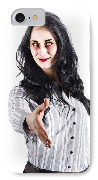 Zombie Offers Her Hand IPhone Case by Jorgo Photography - Wall Art Gallery