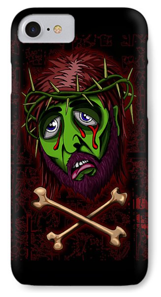 Zombie Superstar IPhone Case by Steve Hartwell