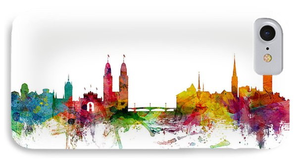 Zurich Switzerland Skyline IPhone Case