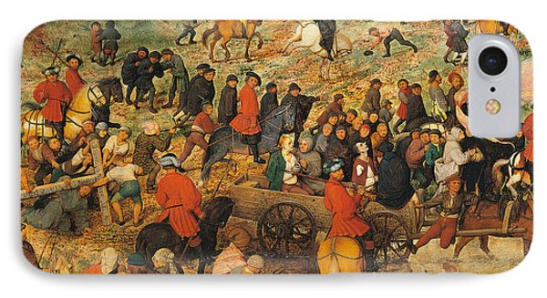 Ascent To Calvary, By Pieter Bruegel IPhone Case