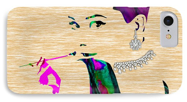 Audrey Hepburn Diamond Collection IPhone Case by Marvin Blaine