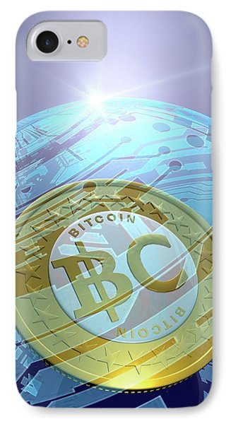 Bitcoin IPhone Case by Victor Habbick Visions