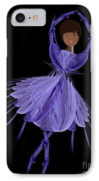 10 Blue Ballerina Phone Case by Andee Design
