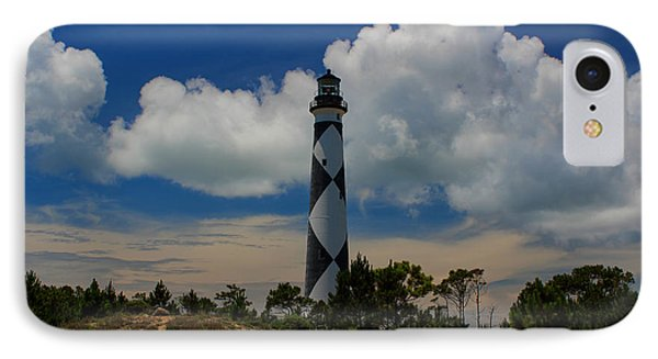 Cape Lookout Lighthouse IPhone Case by Tony Cooper