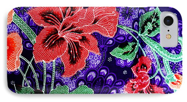 Colorful Batik Cloth Fabric Background  Phone Case by Prakasit Khuansuwan