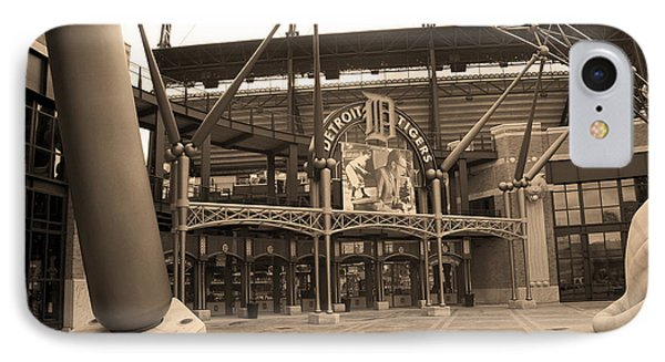 Comerica Park - Detroit Tigers IPhone Case by Frank Romeo