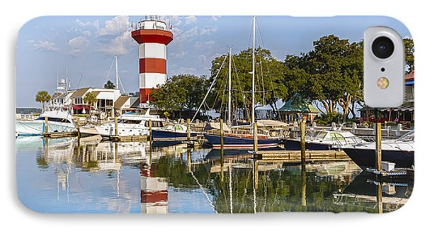 Lighthouse On Hilton Head Island IPhone Case by Peter Lakomy