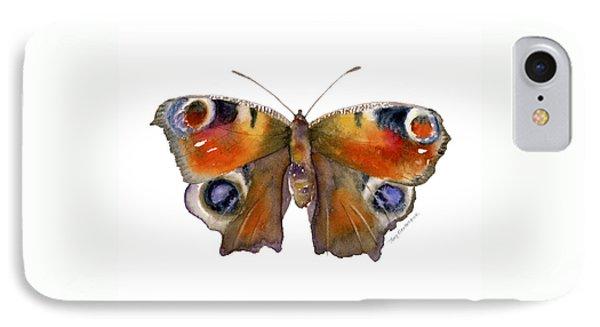 10 Peacock Butterfly Phone Case by Amy Kirkpatrick