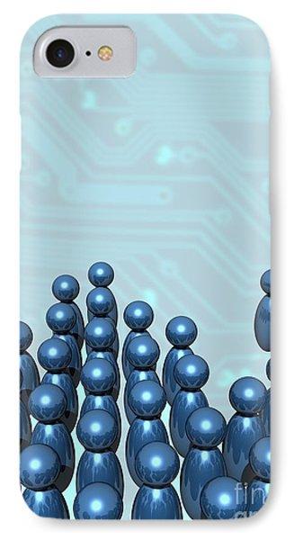 Social Networking, Conceptual Image IPhone Case by Victor Habbick Visions