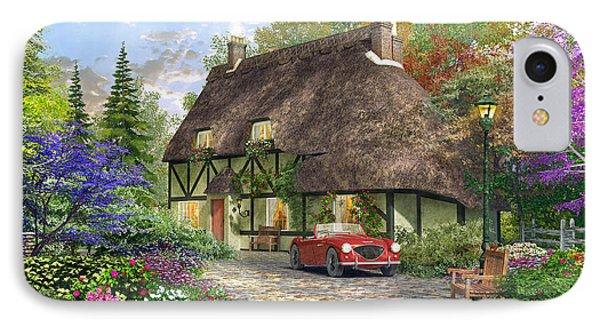 The Oak Wood Cottage IPhone Case by Dominic Davison