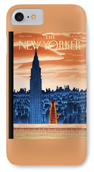 Chrysler Building iPhone 7 Case - New Yorker January 12th, 2009 by Mark Ulriksen