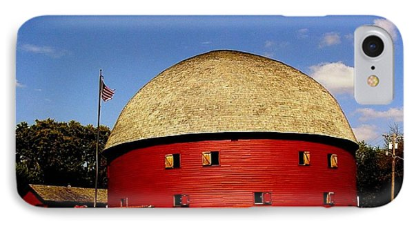 IPhone Case featuring the photograph 100 Year Old Round Red Barn  by Janette Boyd