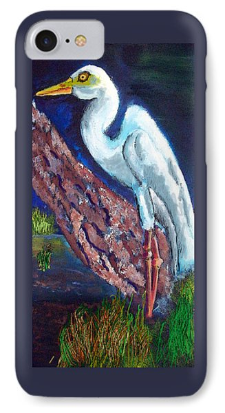 1004397egret IPhone Case by Garland Oldham
