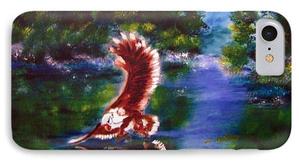 1044426 Digital Eagle IPhone Case by Garland Oldham