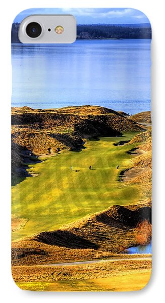 10th Hole At Chambers Bay IPhone Case by David Patterson