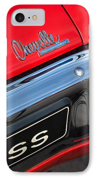 1970 Chevrolet Chevelle Ss Taillight Emblem Phone Case by Jill Reger