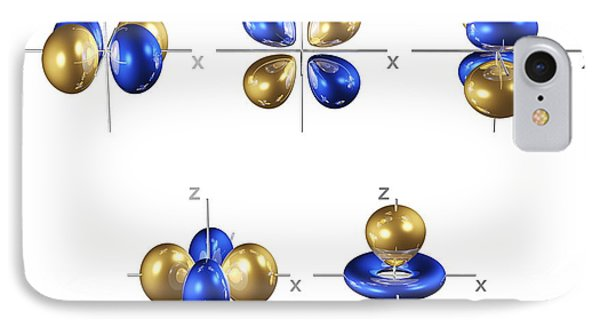 3d Electron Orbitals IPhone Case by Dr. Mark J. Winter