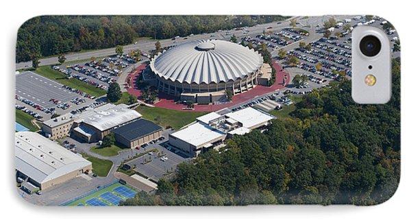 aerials of WVVU campus Phone Case by Dan Friend