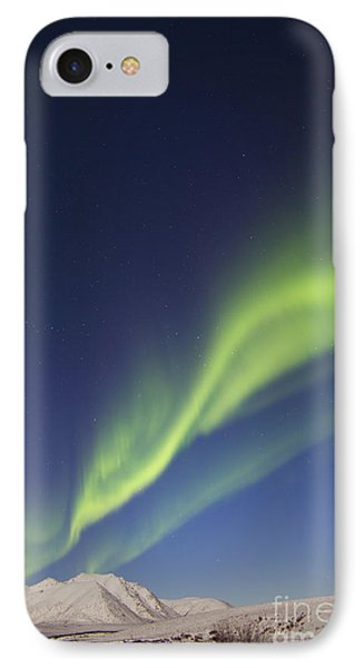 Aurora Borealis With Moonlight Phone Case by Joseph Bradley