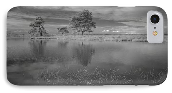 Infrared Picture Of The Nature Area Dwingelderveld In Netherlands IPhone Case by Ronald Jansen