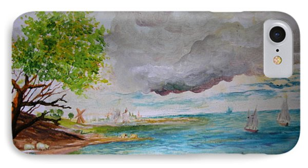 IPhone Case featuring the painting Landscape by Egidio Graziani
