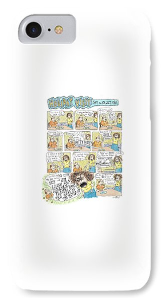 11 Panel Full Color Back Page Devoted IPhone Case by Roz Chast