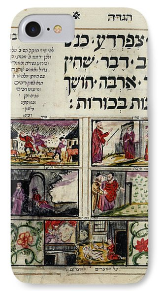 Grasshopper iPhone 7 Case - Passover Haggadah by British Library