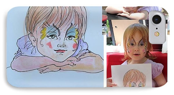 IPhone Case featuring the painting Portrait Sketch by Ping Yan