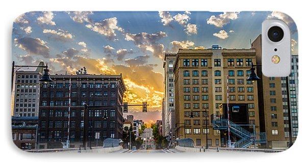 11 Th St. Bridge Sunset Tacoma Wa IPhone Case by Rob Green