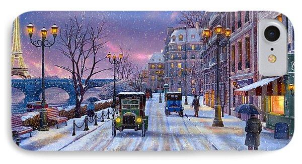 Winter In Paris IPhone Case by Dominic Davison