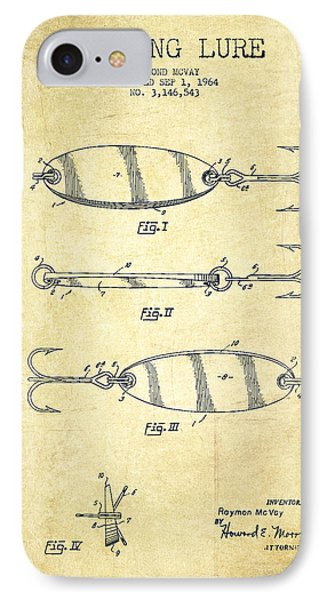 Vintage Fishing Lure Patent Drawing From 1964 IPhone Case