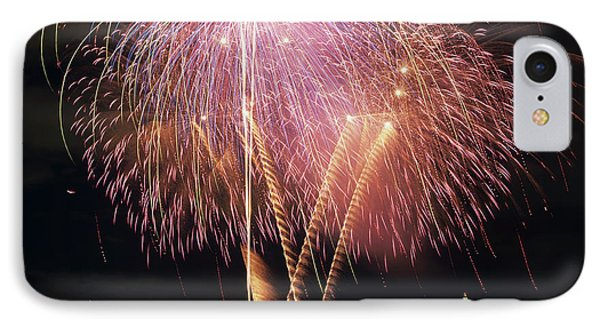 Wa, Seattle, Fireworks On July 4th IPhone Case by Jamie and Judy Wild