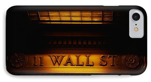 11 Wall St. Building Sign IPhone Case by Panoramic Images