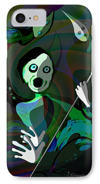 1122 - Fear ...  The Scream IPhone Case by Irmgard Schoendorf Welch