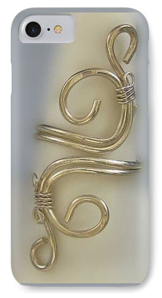 1153 Sterling Adjustable Ring IPhone Case