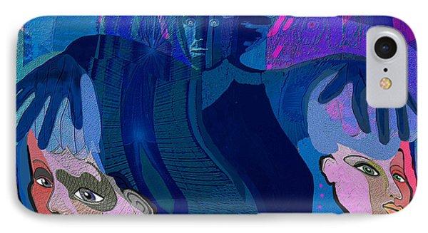 1173 - Dark Angel IPhone Case by Irmgard Schoendorf Welch