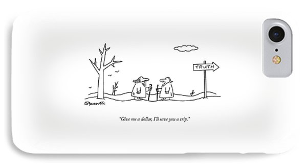 Give Me A Dollar IPhone Case by Charles Barsotti