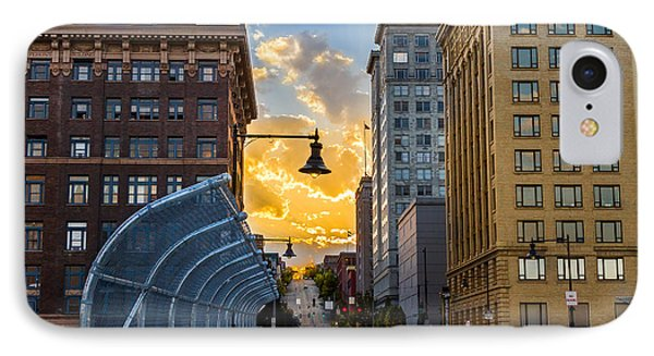 11th St Bridge Sunset 4 IPhone Case by Rob Green