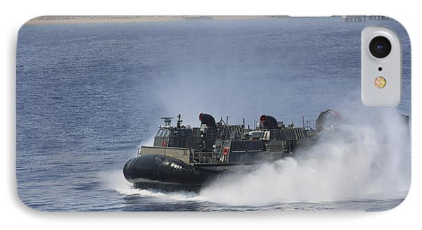 A Landing Craft Air Cushion Transits IPhone Case by Stocktrek Images
