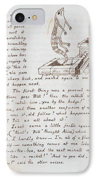 Alice's Adventures In Wonderland IPhone Case by British Library
