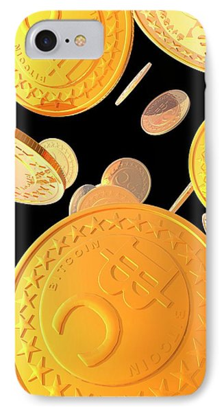 Bitcoins IPhone Case by Victor Habbick Visions