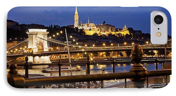 Budapest By Night Phone Case by Odon Czintos