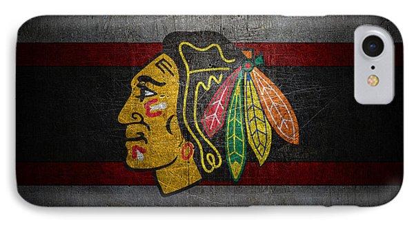 Chicago Blackhawks IPhone 7 Case by Joe Hamilton