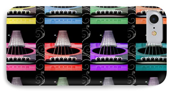 12 Color Guitars Phone Case by Andee Design
