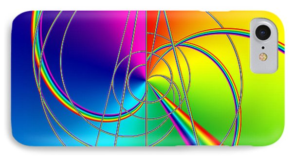 Depression Color Therapy Inside A Rainbow Phone Case by Sir Josef - Social Critic - ART