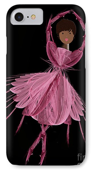 12 Pink Ballerina Phone Case by Andee Design