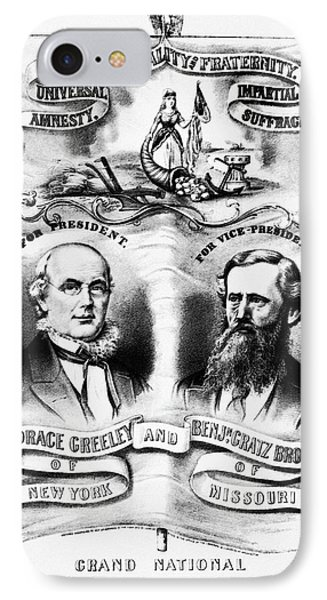Presidential Campaign, 1872 IPhone Case by Granger