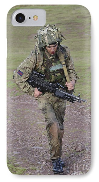 Welsh Guards Training Phone Case by Andrew Chittock