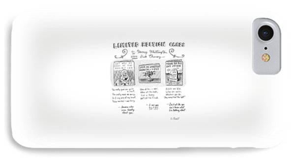 Limited Edition Cards IPhone 7 Case by Roz Chast